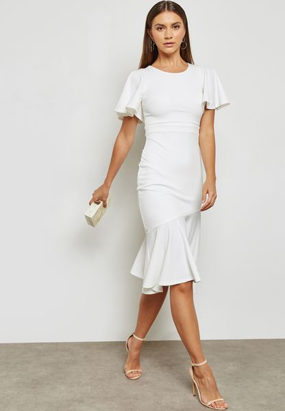 Flare Mermaid Midi Dress