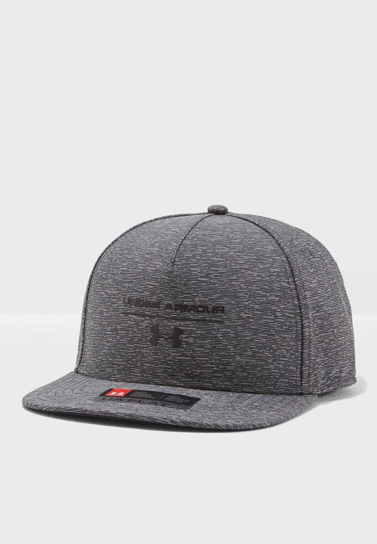 69a695c767b Shop Under Armour grey Reflective Flat Brim Cap 1305450-001 for Men ...