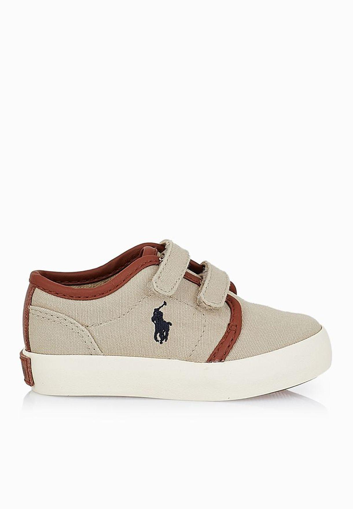 17331e7fa Shop Polo Ralph Lauren beige Ethan Low Ez Infant T992179 for Kids in ...
