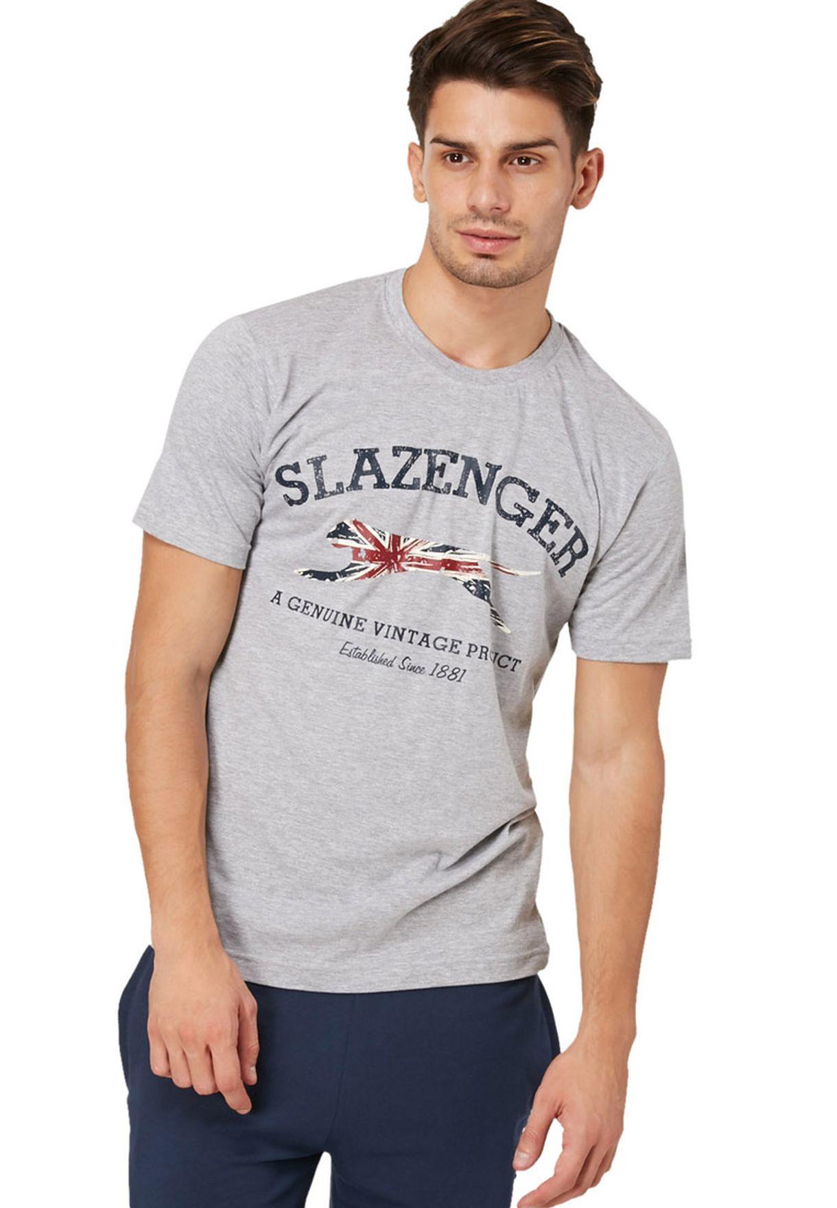 607a0abd3f Shop Slazenger grey Butcher Panther T-Shirt for Men in Bahrain ...