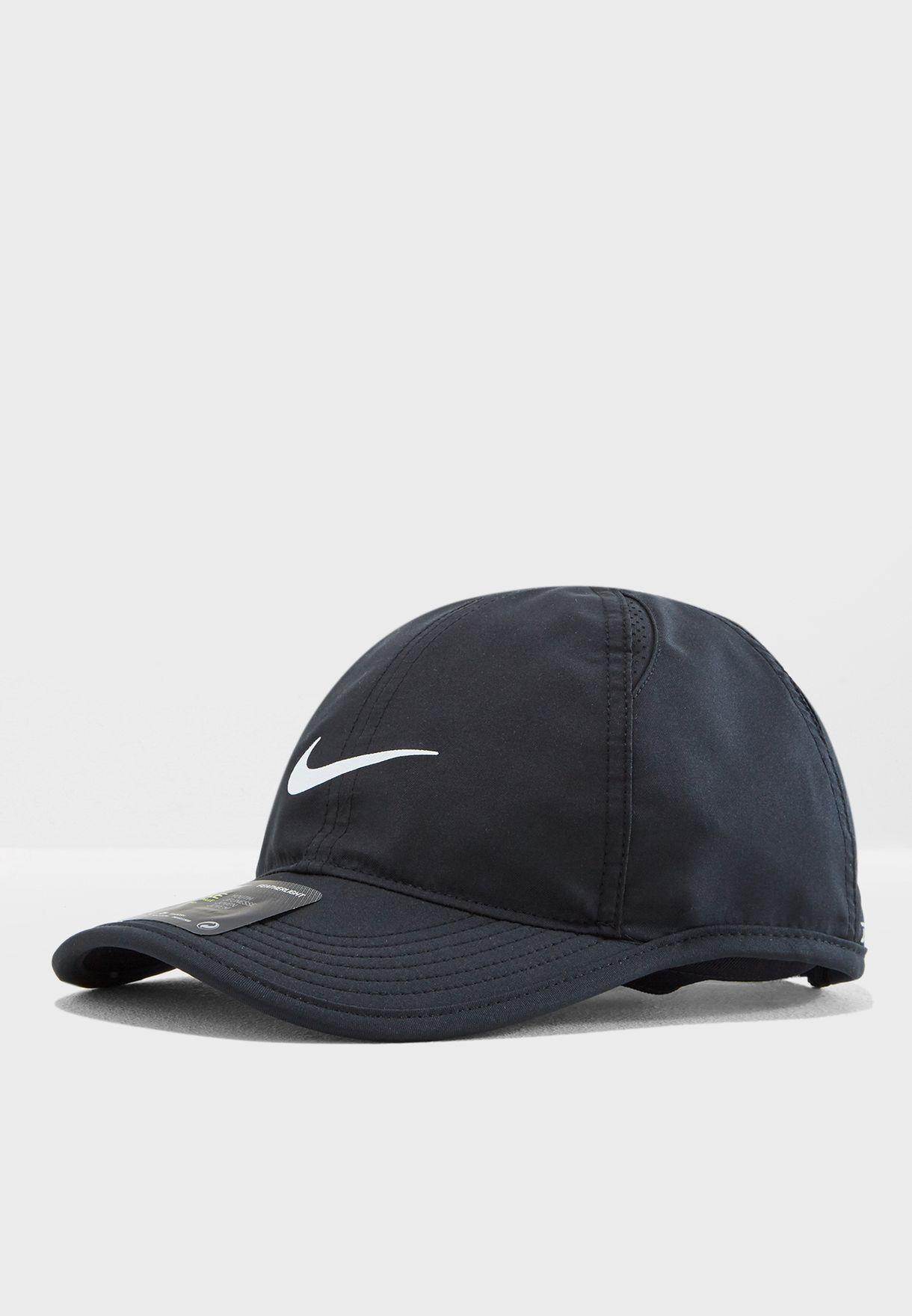 6bd9a75664e72 Shop Nike black Aerobill Featherlight Cap 739376-010 for Kids in UAE ...