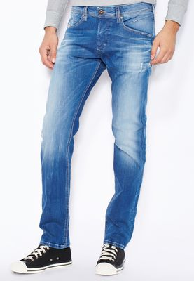 Diesel Belther Relaxed Fit Tapered Light Wash Jeans
