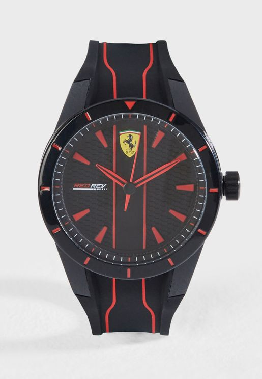 740ef44676940 Scuderia Ferrari Rev watch. فيراري