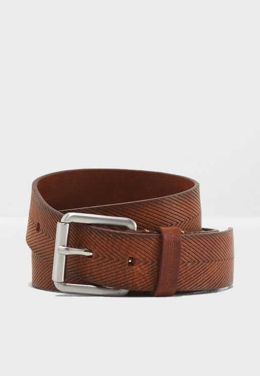 3.5 Cm Leather Embossed Belt