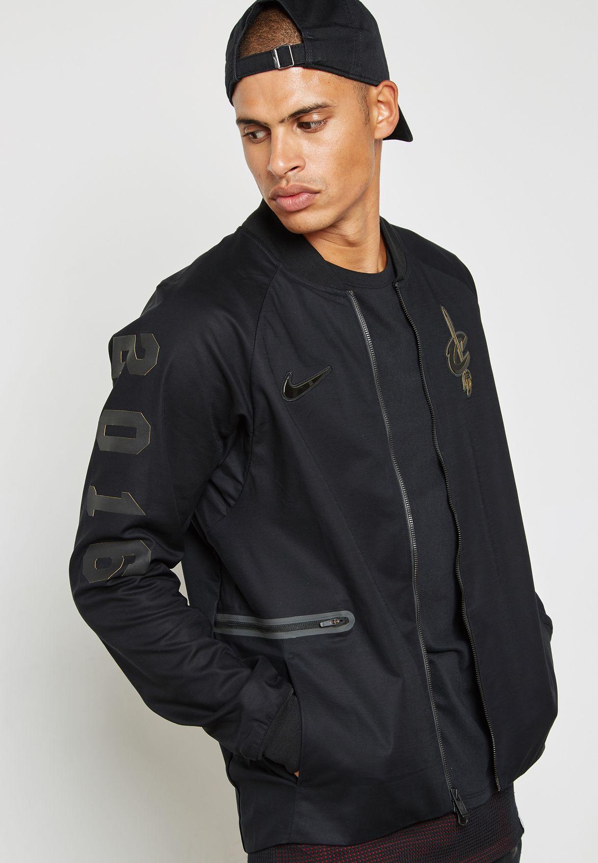 c46425391d99 Shop Nike black Cleveland Cavaliers Varsity Jacket 860791-010 for ...