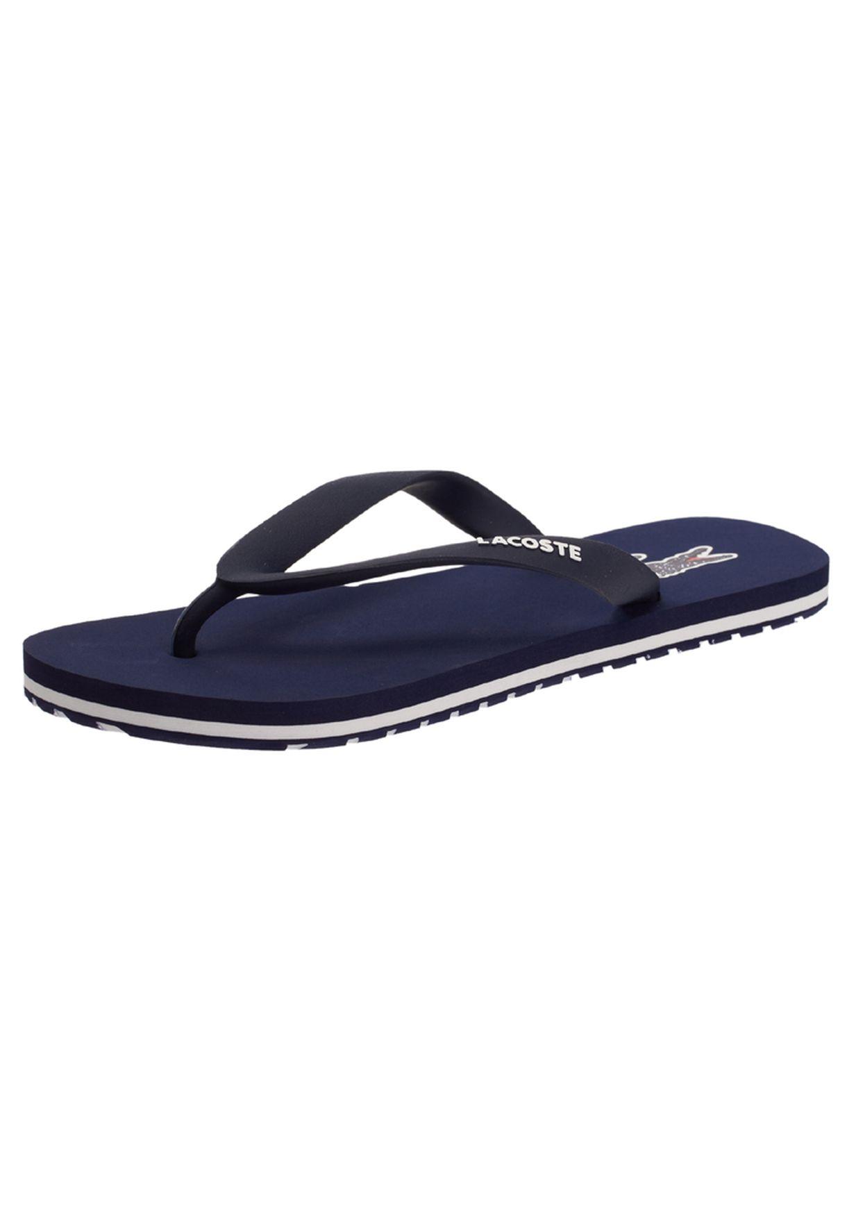 2d4fbb2613909 Shop Lacoste blue Casual Flipflops 23SPJ0022-121 for Men in Qatar ...