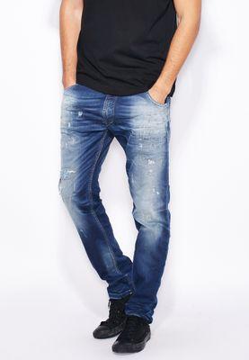 Diesel Krooley Slim Fit Mid Wash Jeans