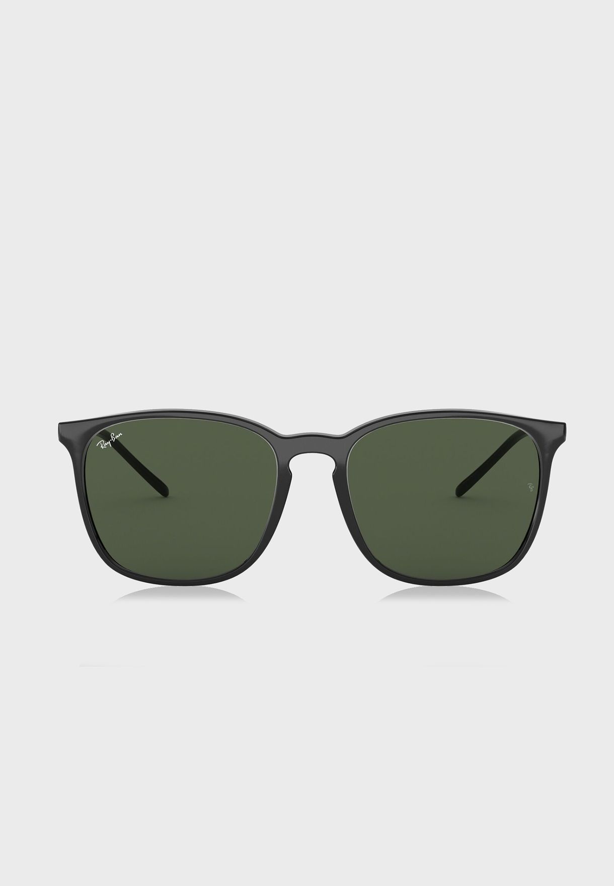 69a9ab77d4e Shop Ray-Ban black 0RB4387 Highstreet Square 8.05367E+12 for Men in ...
