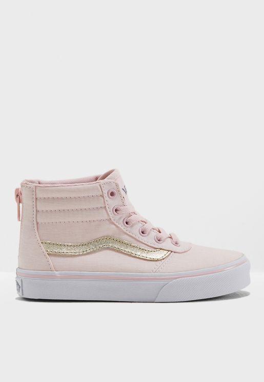 Maddie Hi Zip Sneakers Youth