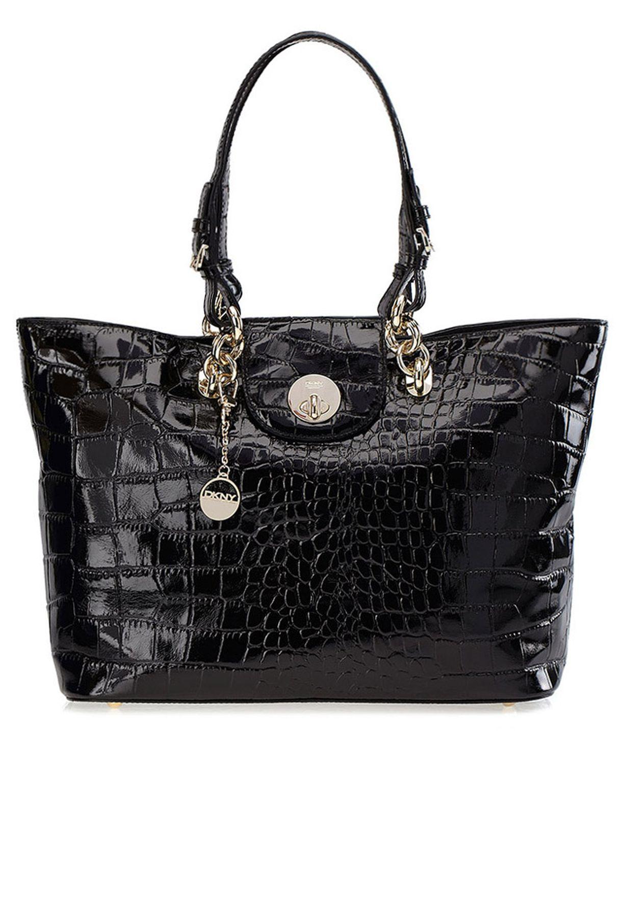 Compra Buckle para R2314204 Dkny Black Arabia en Saudita Shopper Lock Tote mujeres Twist Ew Dk790ac22ajp ZFZIrxgaqw