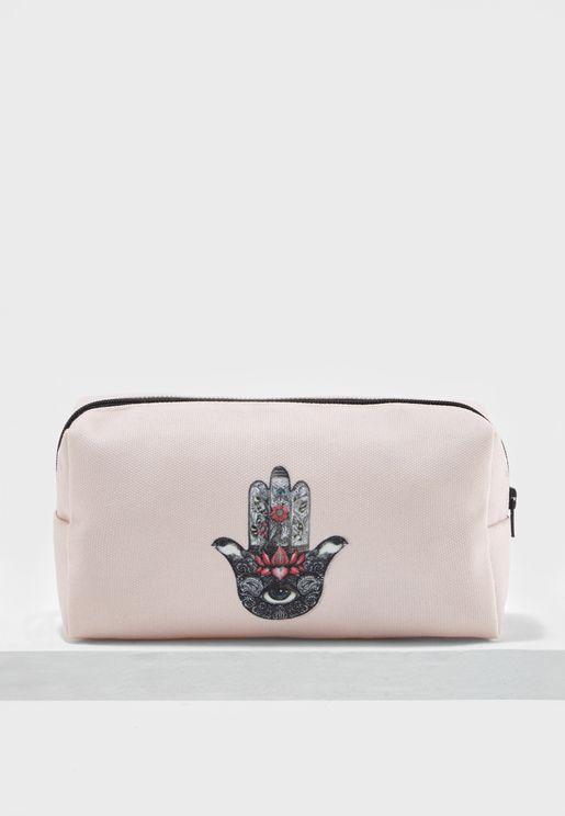 Hamsa Cosmetic Bag