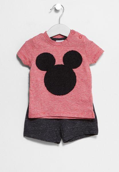 Infant Mickey T-Shirt + Shorts Set