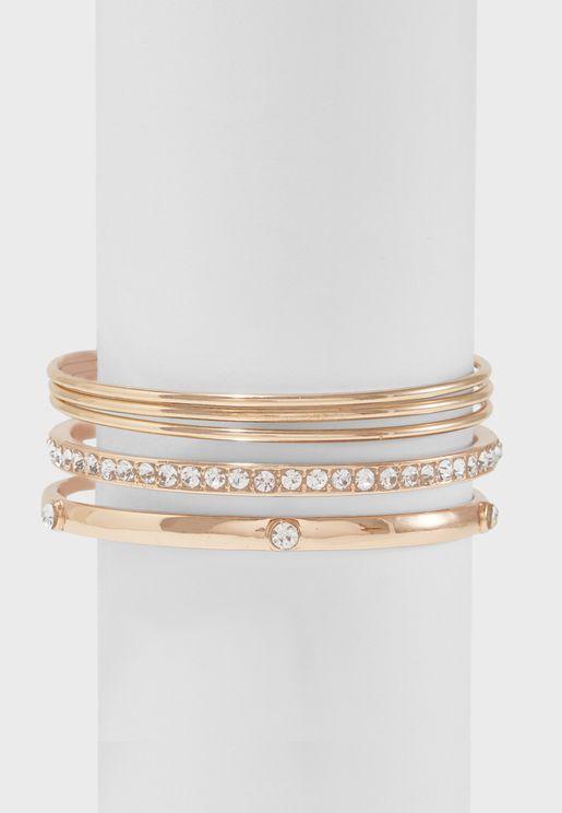 Multipack Glass Stone Detail Bracelets