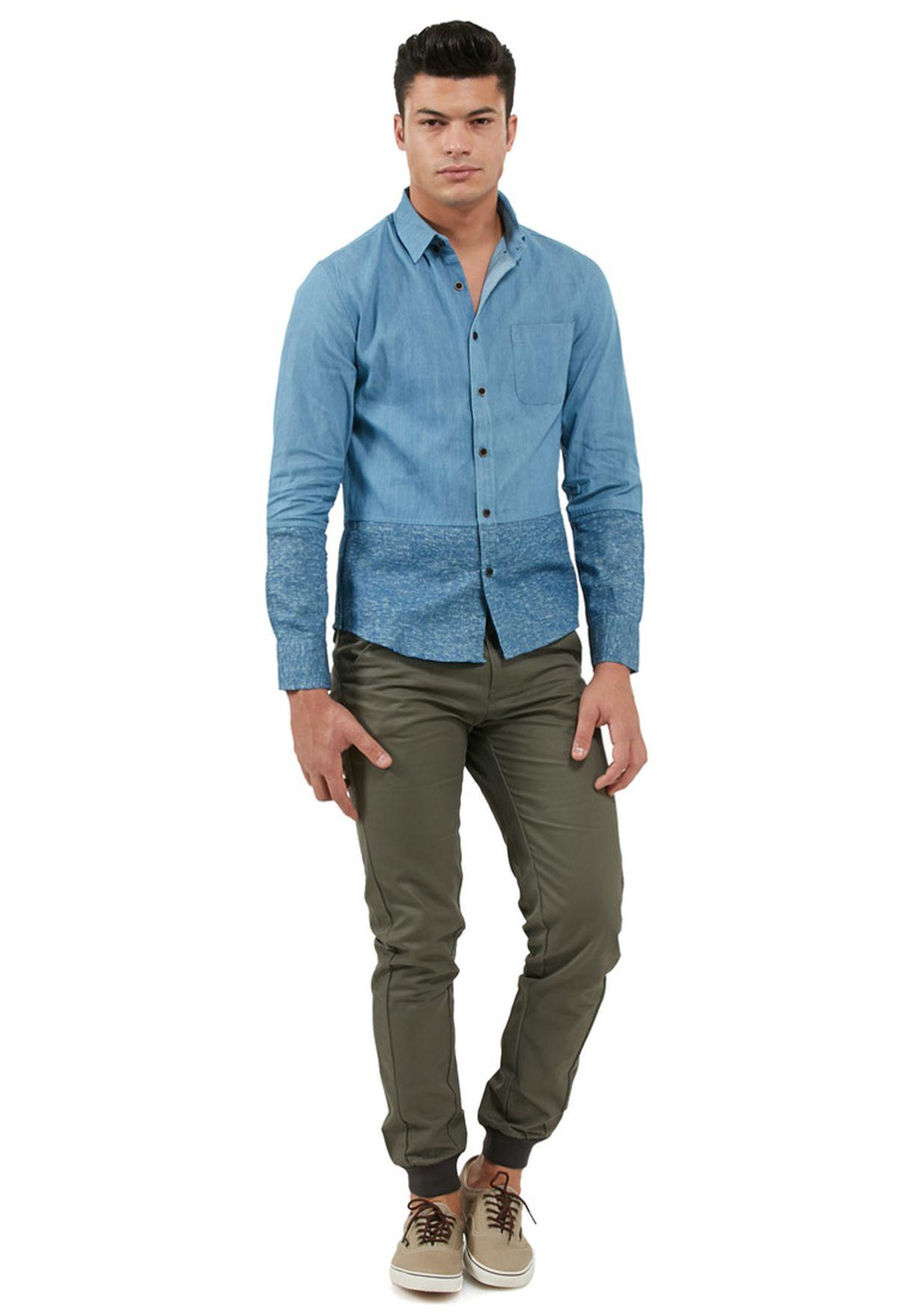 قميص جينز بجيب