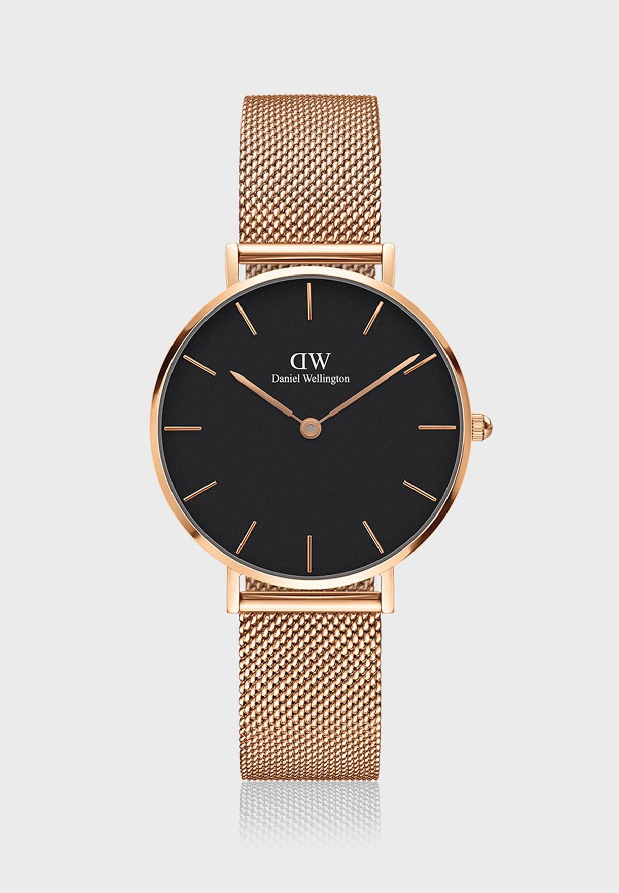 d4b06047379 Shop Daniel Wellington browns Melrose Classic Watch 32mm Rose Gold ...