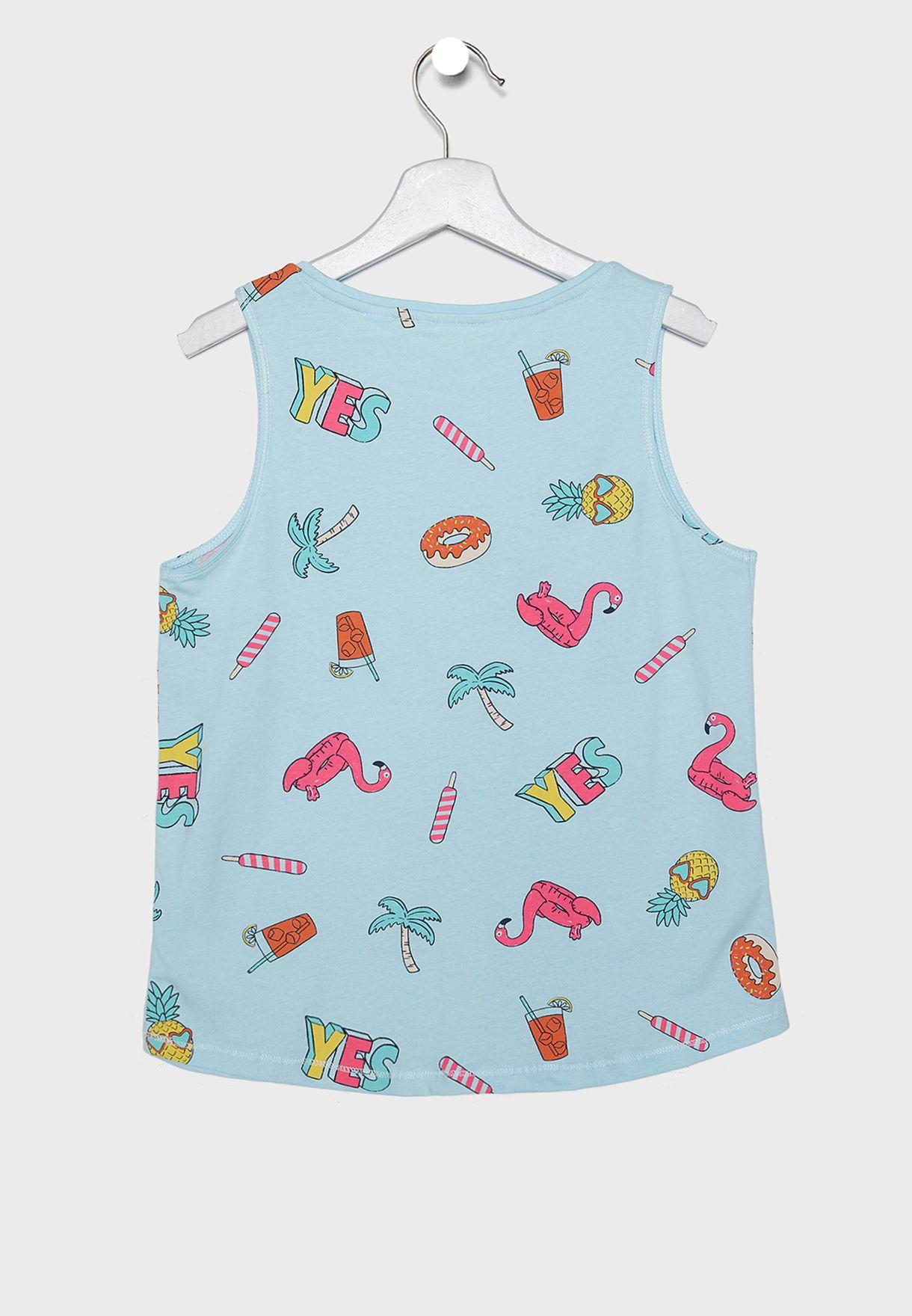 Kids Printed Pyjama Set