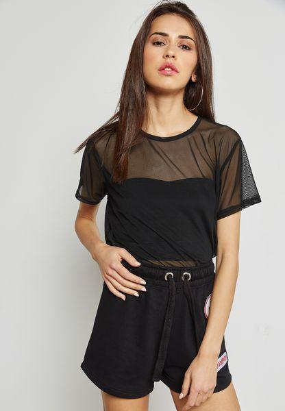 Black Mesh T-Shirt