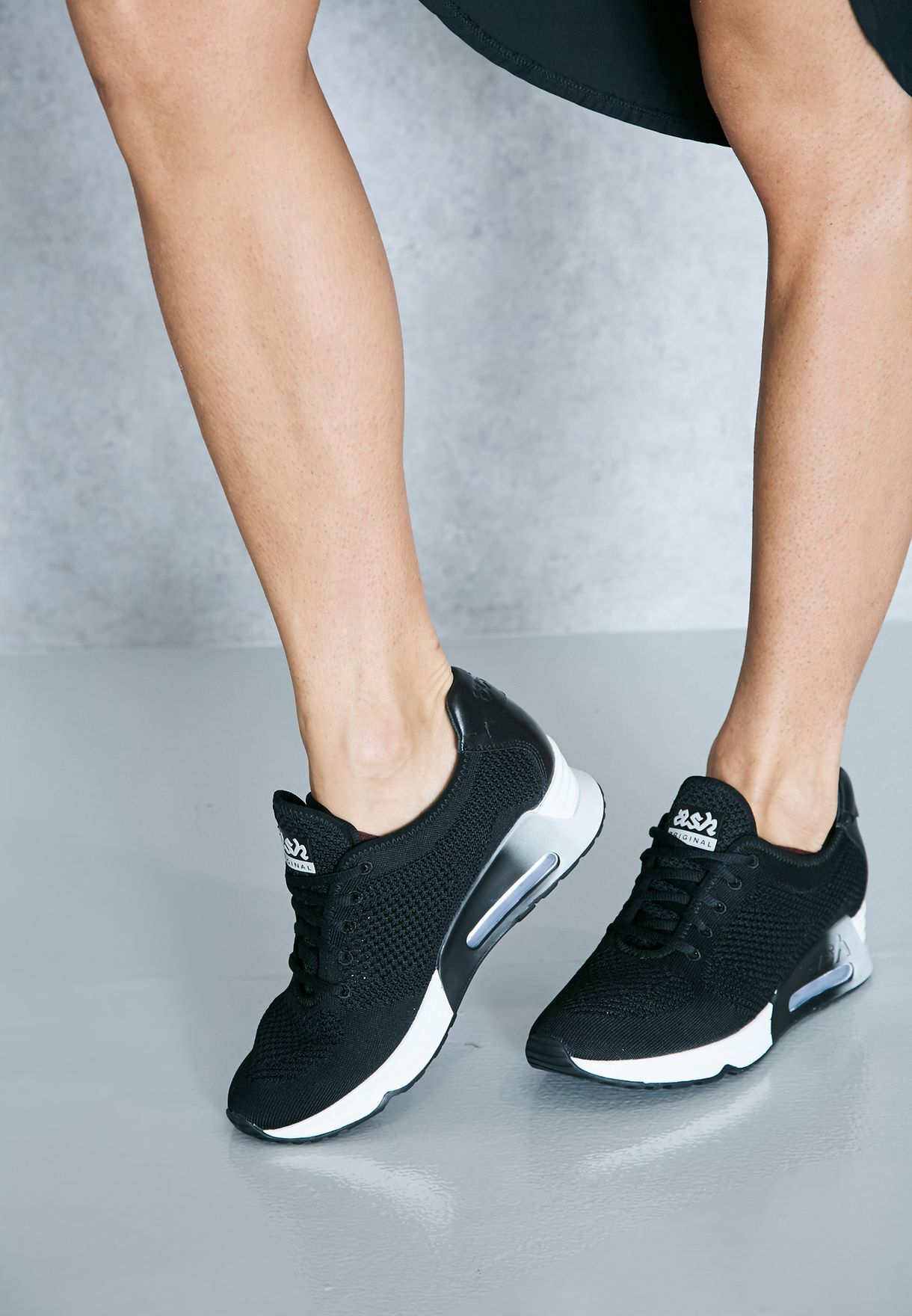 Ash black Lucky Lace Up Chunky Sneakers