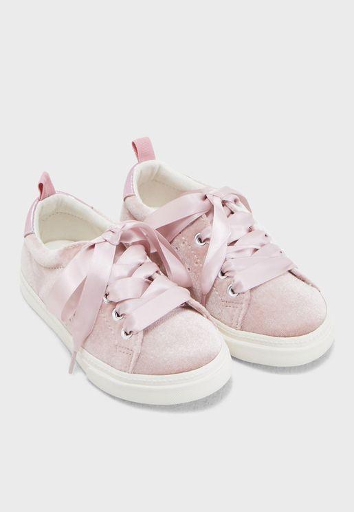Kids Velvet Sneaker