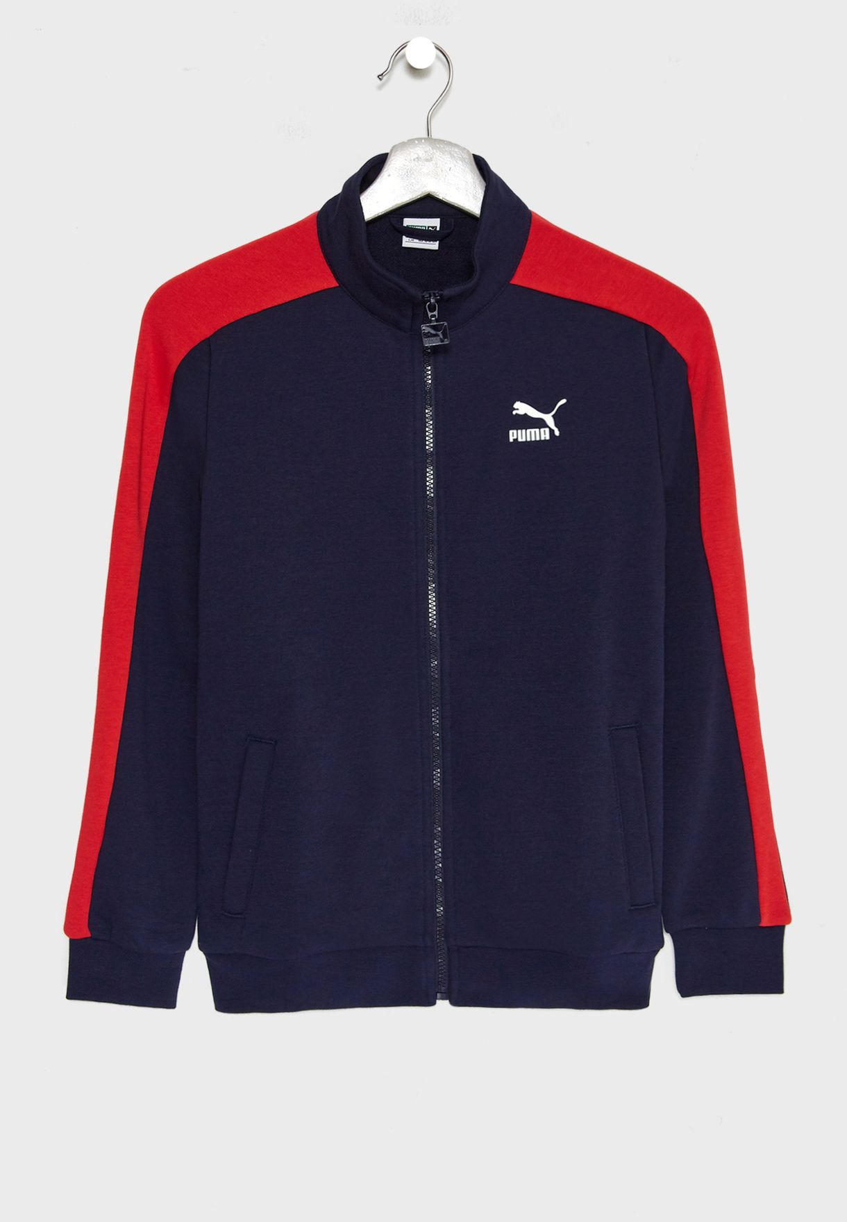 9df841262110 Shop PUMA navy Kids Classic T7 Track Jacket 85253906 for Kids in UAE ...