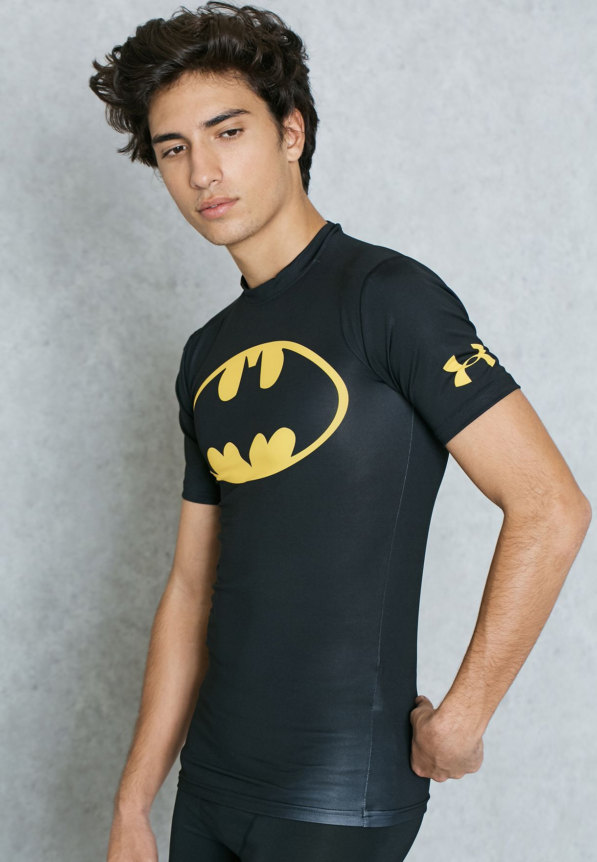 4a9c0a4a1275cb Shop Under Armour black Batman Compression T-Shirt 1244399-006 for ...