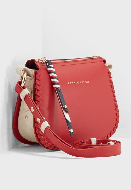 Stitch Leather Crossbody