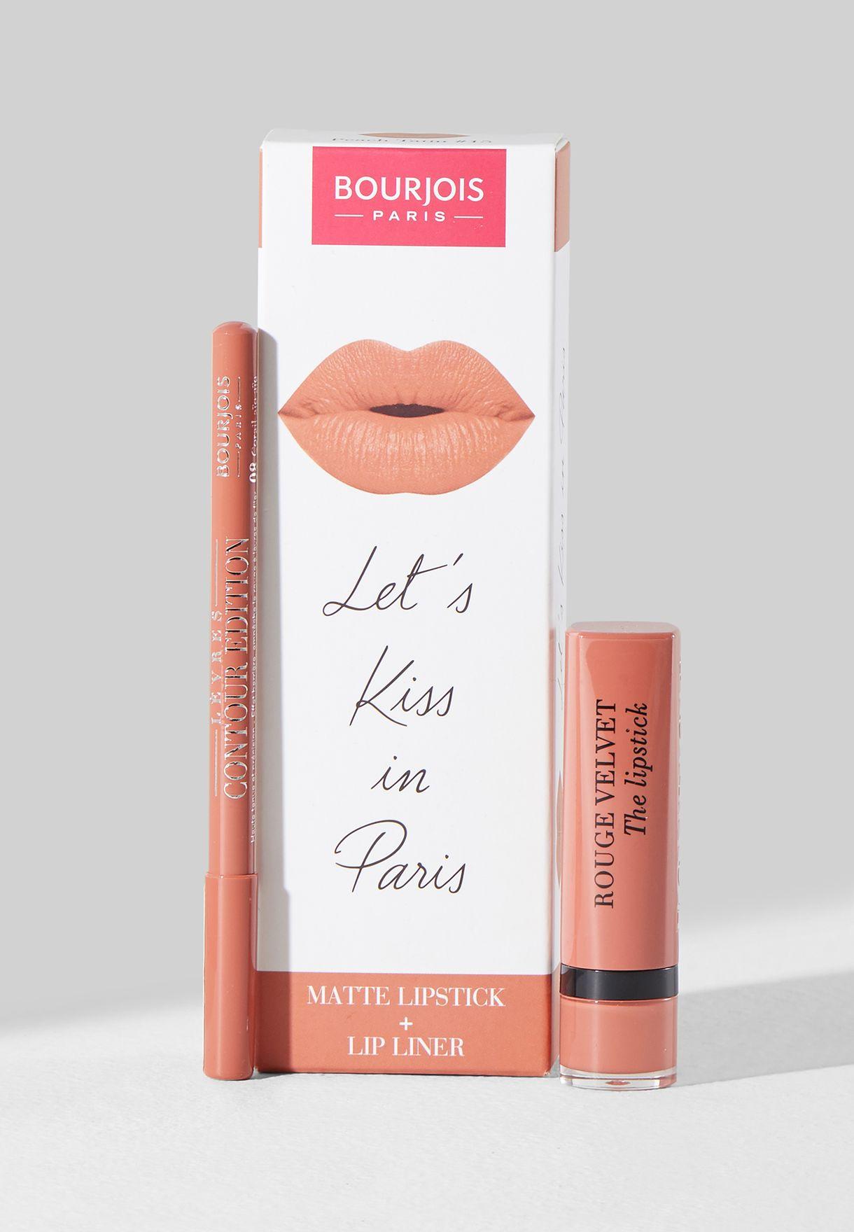 Rouge Velvet Peach Tatin Lip Kit
