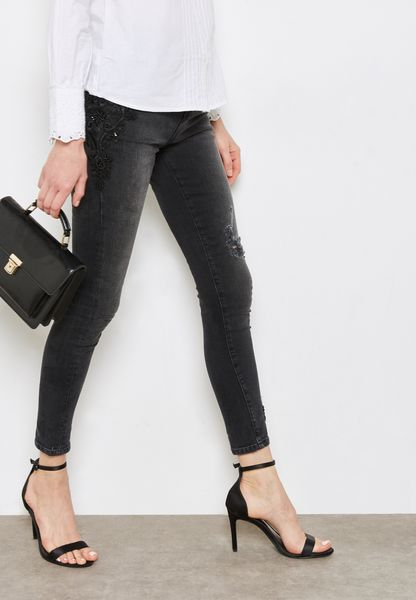 Darcy Mid Rise Annkle Grazer Skinny Jeans