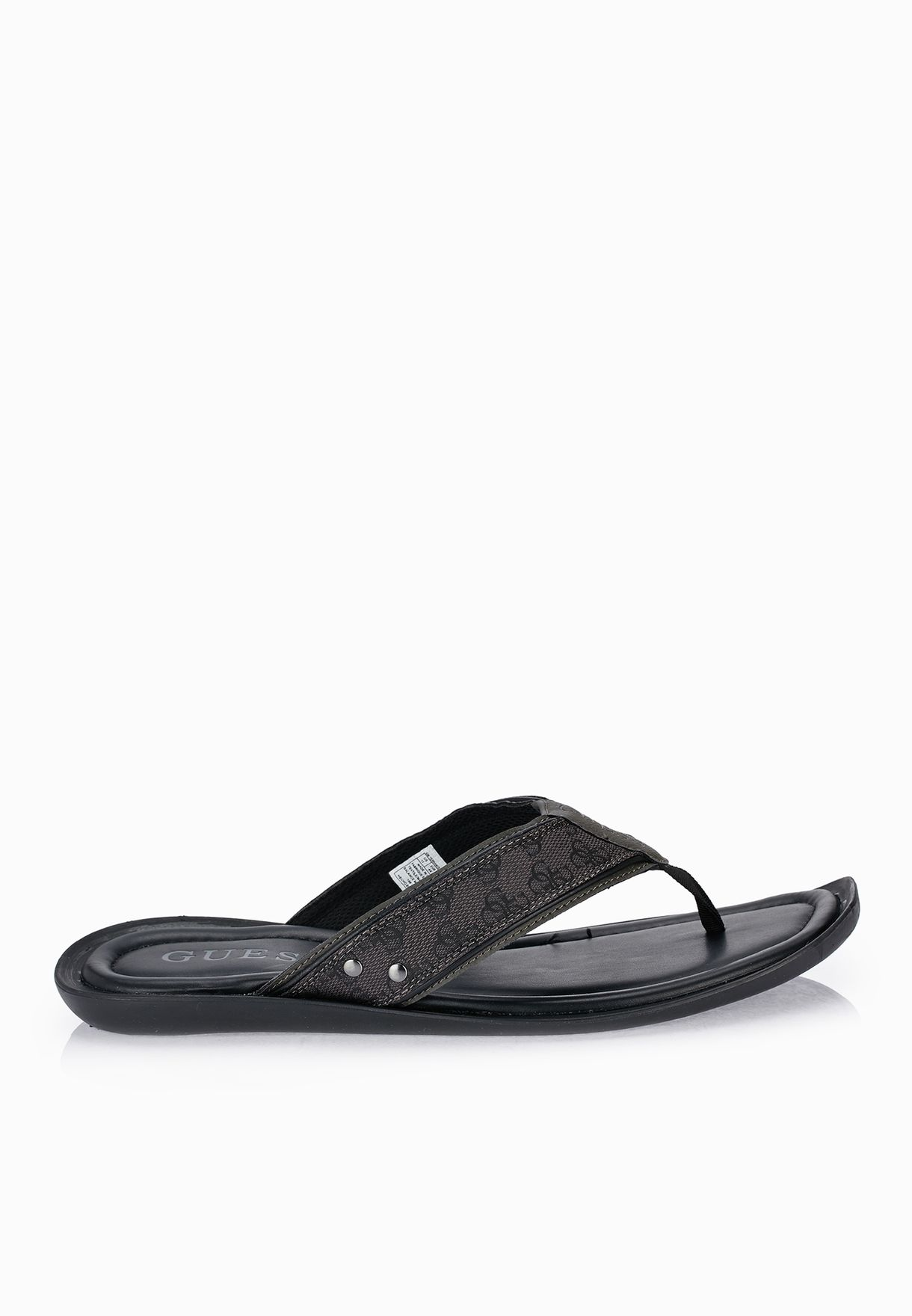 bd59ece1dc04 Shop Guess black Terrance Flip Flops GMTERRANCE for Men in UAE ...