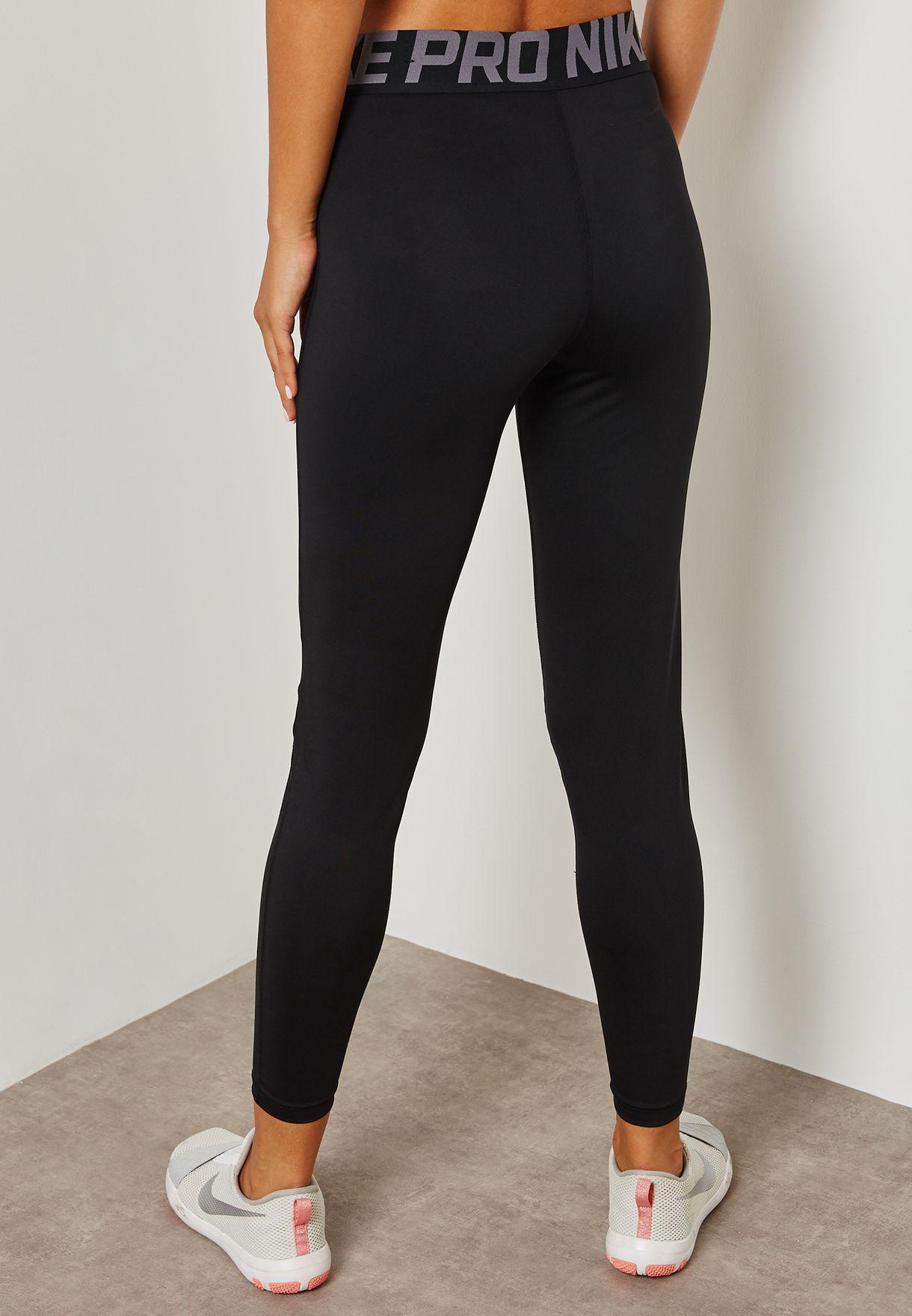 10c35e6ca2ba5 Shop Nike black Pro Crossover Leggings AH8776-010 for Women in Saudi ...