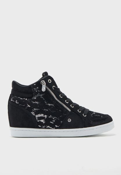 Sequin High Top Sneaker