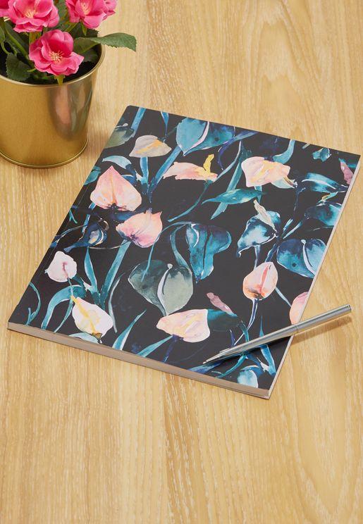Night LiliesA4 Notebook