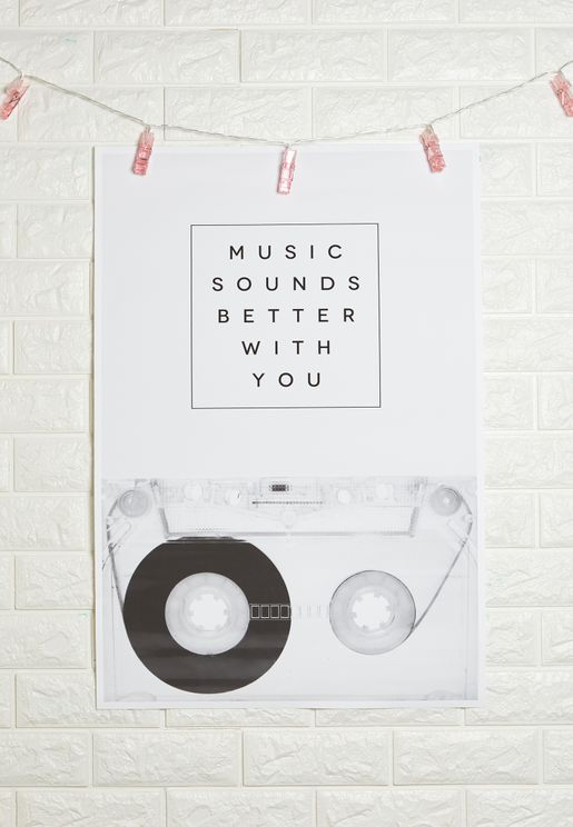 Music Sound Better With You Art Print