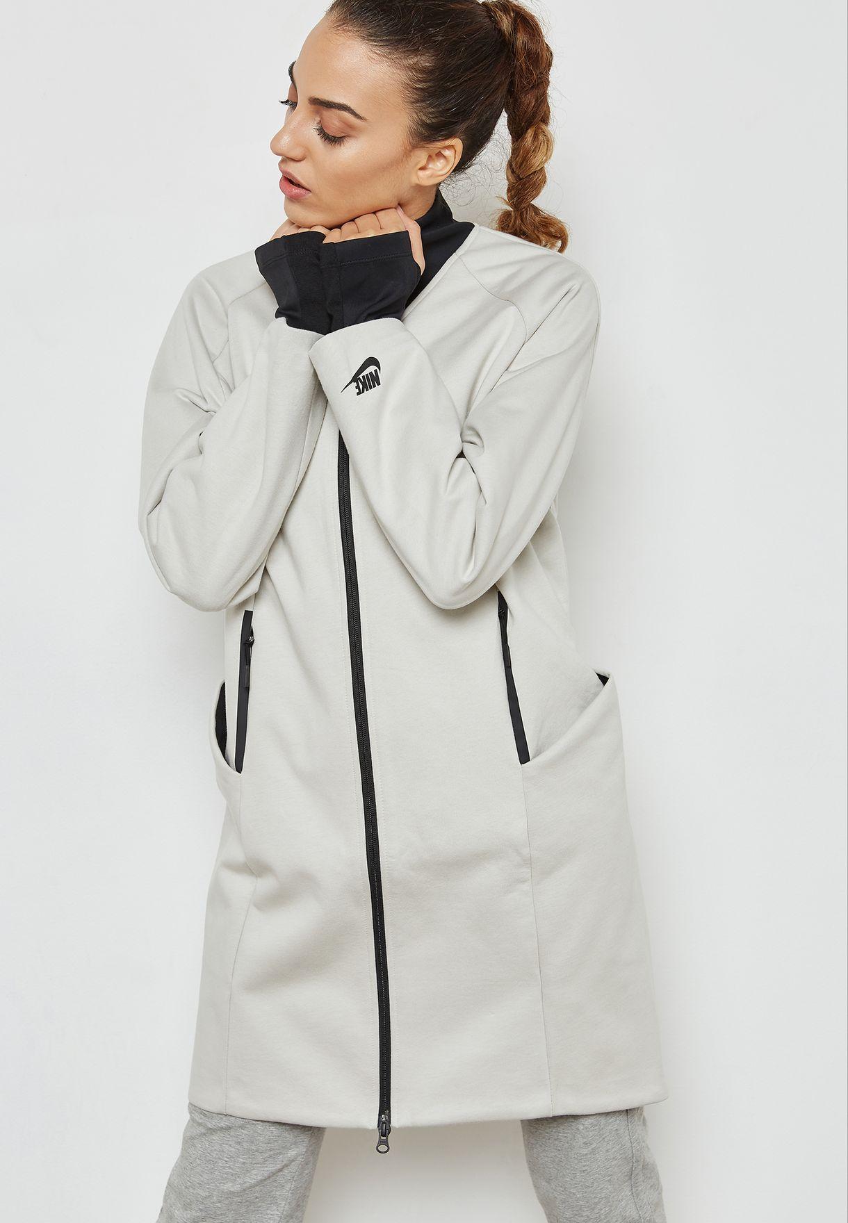 d2847269564b Shop Nike beige Tech Fleece Jacket 884429-072 for Women in UAE ...