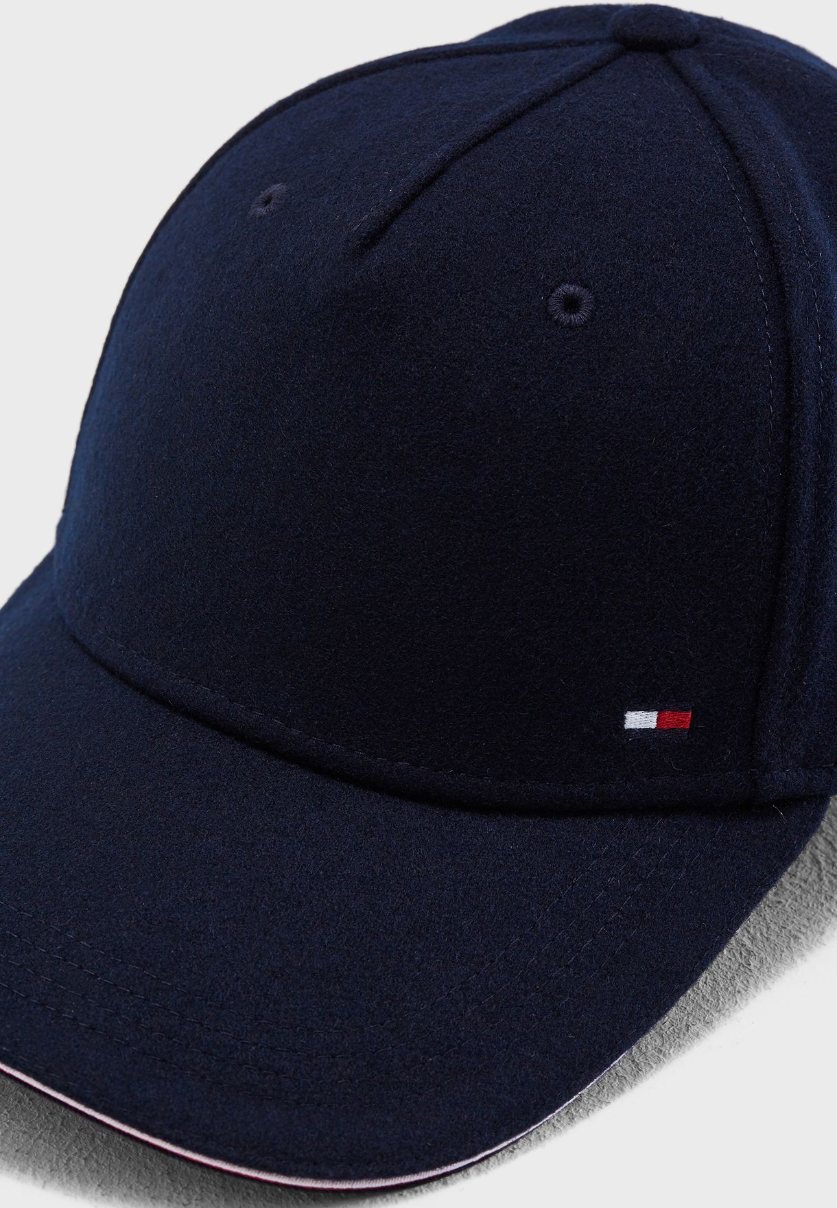 14c0dd76403 Shop Tommy Hilfiger navy Melton Corporate Cap AM0AM03996 for Men in ...