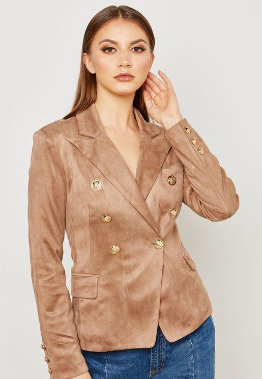 Suedette Blazer Jacket