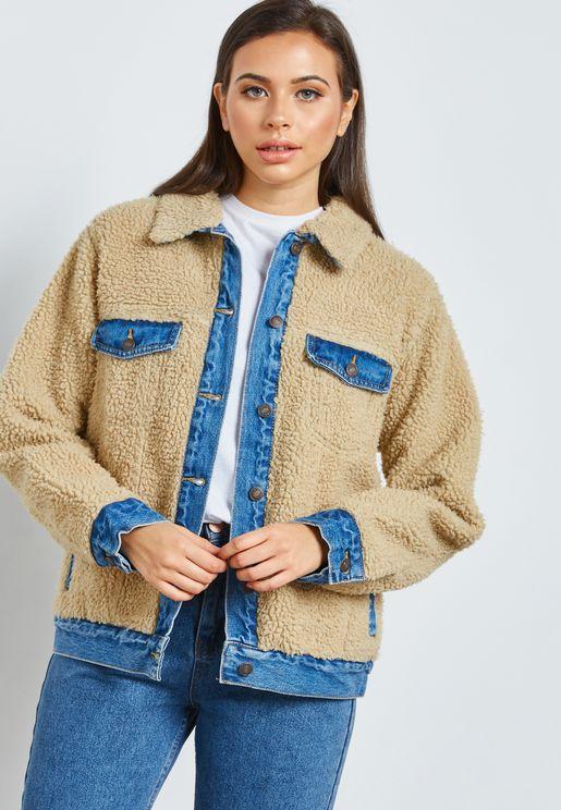 Fur Denim Jacket