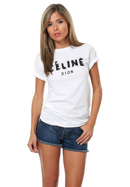 Shop Reason White Celine Dion Tshirt For Women In Uae