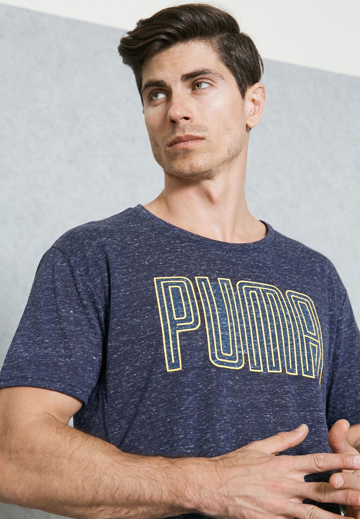 4558d975e Shop PUMA navy Dri-Release Novelty Graphic T-Shirt 51528209 for Men ...