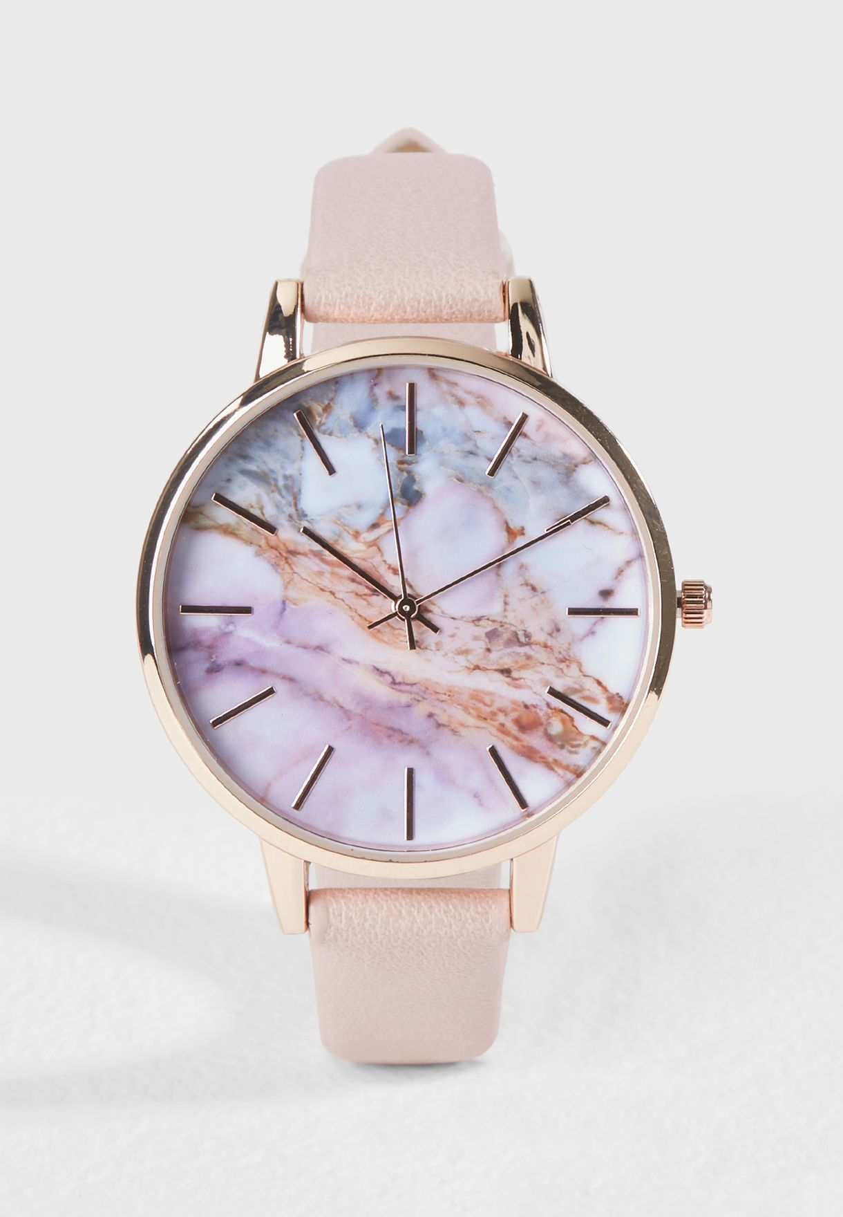 1c6b19a0f5b1c4 Shop New Look pink Marble Swirl Dial Watch 567463770 for Women in UAE -  NE767AC12FQT