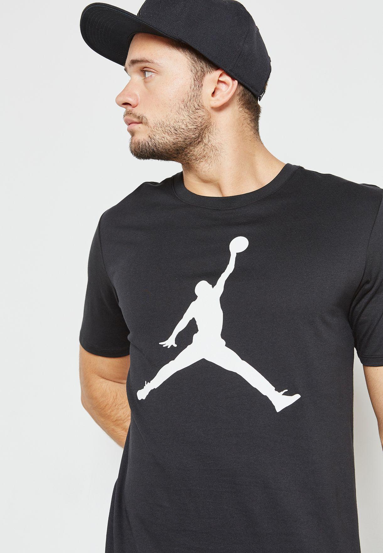 d014d847834f Shop Nike black Jordan Jumpman T-Shirt 908017-010 for Men in UAE ...