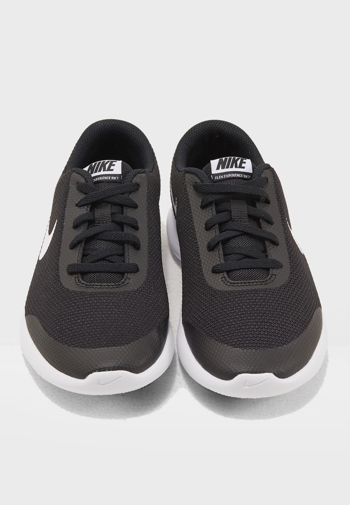 5ab6ba839d98 Shop Nike black Flex Experience RN 7 Youth 943284-001 for Kids in ...