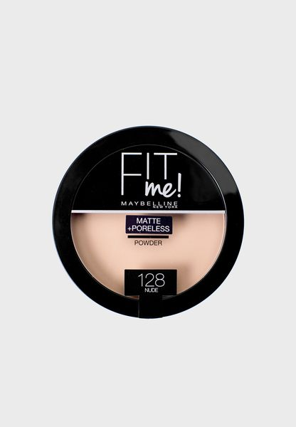 Fit Me Matte + Poreless Pressed Powder #128
