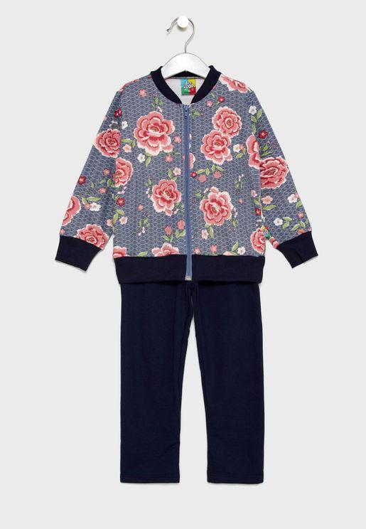 Little Jacket + Sweatpants Set