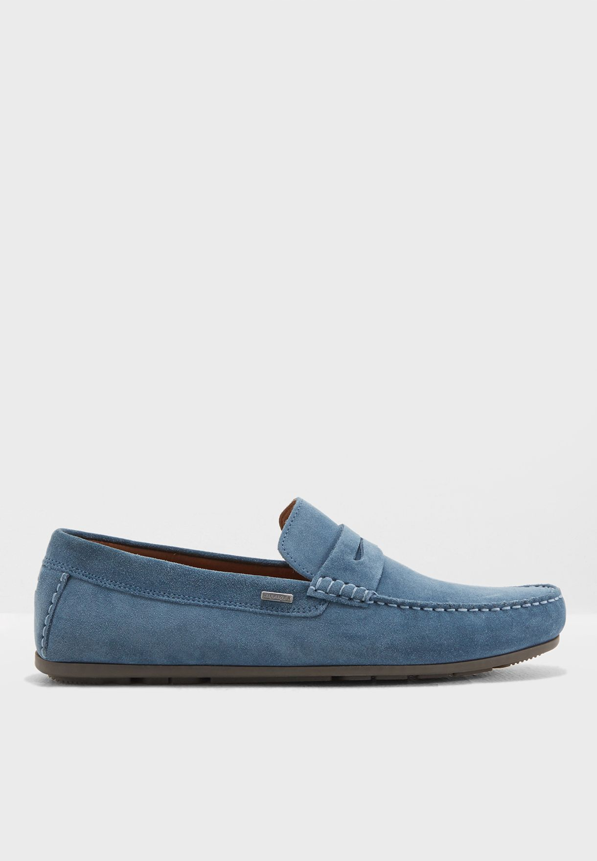 b3902f206d70 Shop Tommy Hilfiger blue Classic Penny Loafers FM0FM01168013 for Men ...