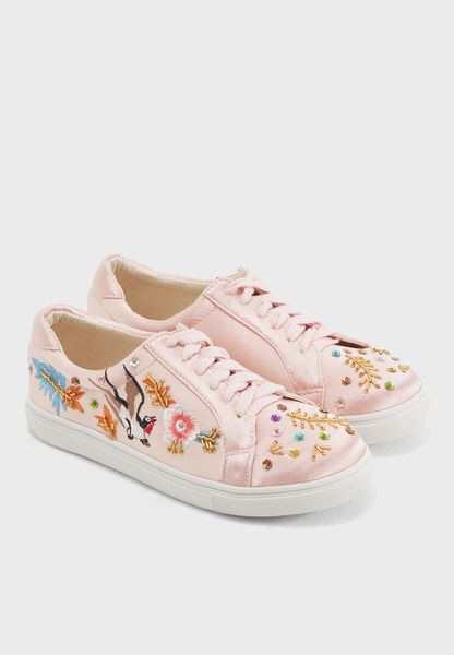 Alivia Embroidery and Embellished Sneaker