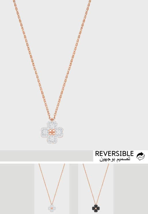 Latisha Reversible Flower Pendant Necklace