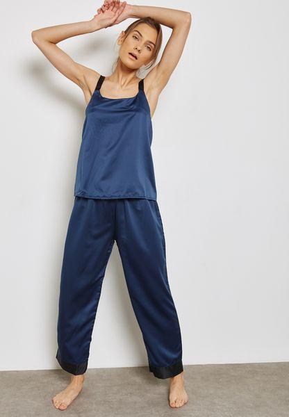 Anna Contrast Cami Pyjama Set