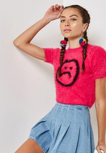 Emo Print T-Shirt