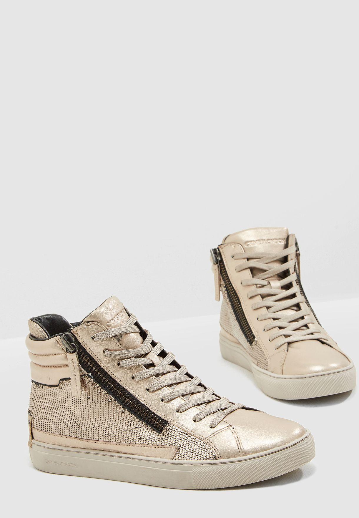 dd0cdc2588 Shop Crime London metallic Java Hi High Top Sneaker 25141AA1 for Women in  UAE - CR553SH12LQL